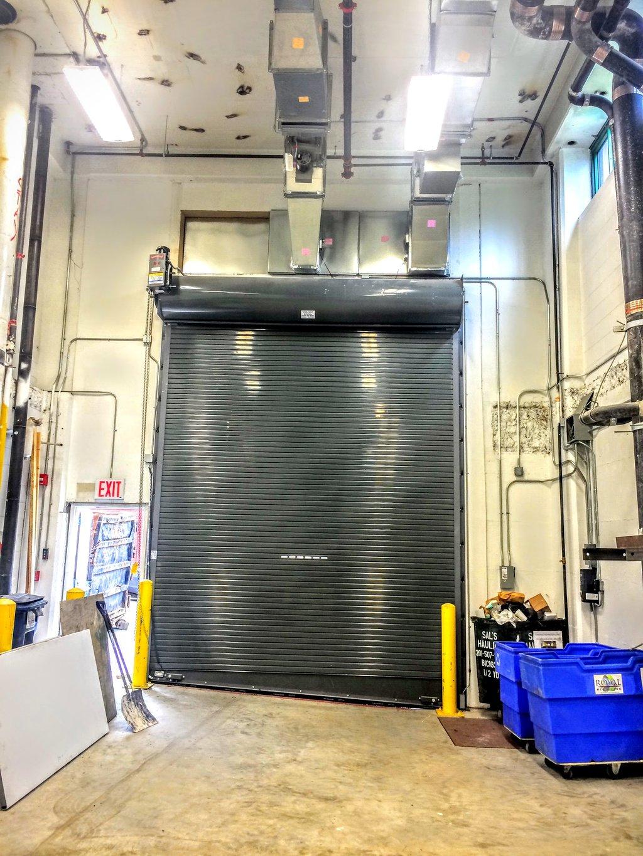 Rolling steel door on building - Roller Doors With Custom Color Brooklyn Queens Manhattan Staten Island Bronx