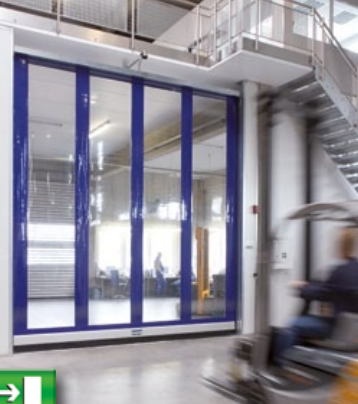 Albany Doors Assa Abloy High Speed Line, Doors with Flexible Curtains, Albany RR300 Plus