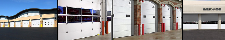 Clopay Sectional Overhead Doors, Energy Series door application in distribution center, firehouse and service center.