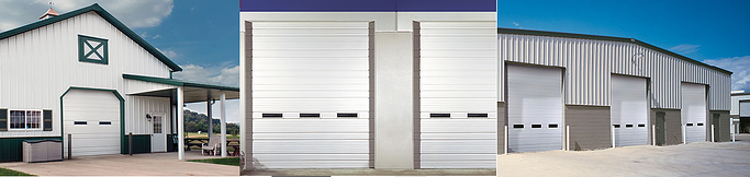 Clopay Sectional Doors, Industrial Series door application for loading dock application and storehouses.