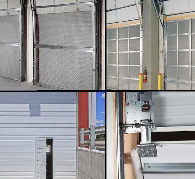 Clopay Overhead Doors, Sectional Doors, Special Products and Accessories, pass doors, security chain link, dock seals, screen doors and breakaway bottom doors
