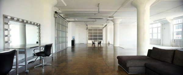 Showroom Fashion Studio NYC Glass Wall Garage Door