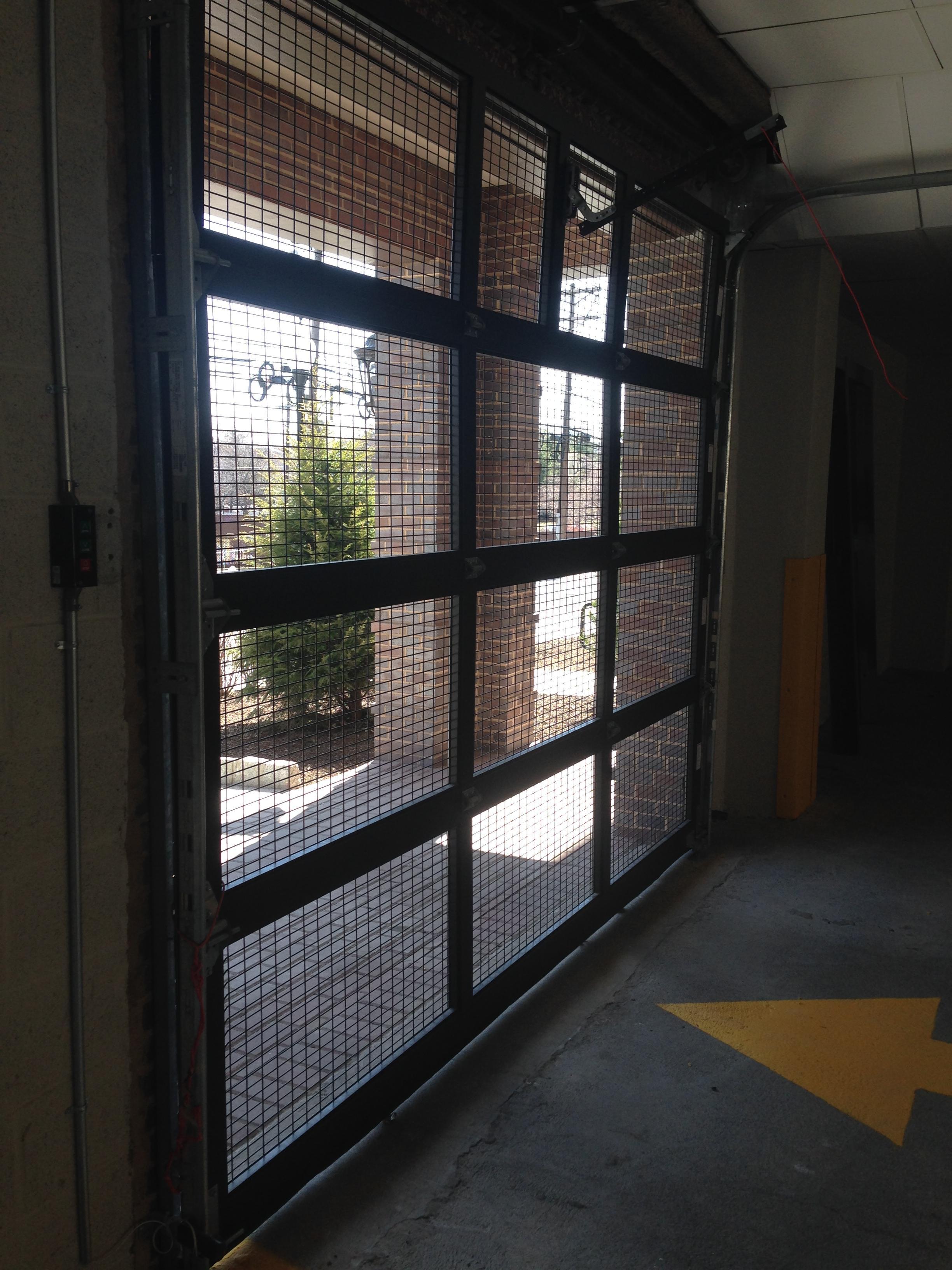 wire-mesh-roll-up-garage-door-new-york- & Wire Mesh Overhead Doors