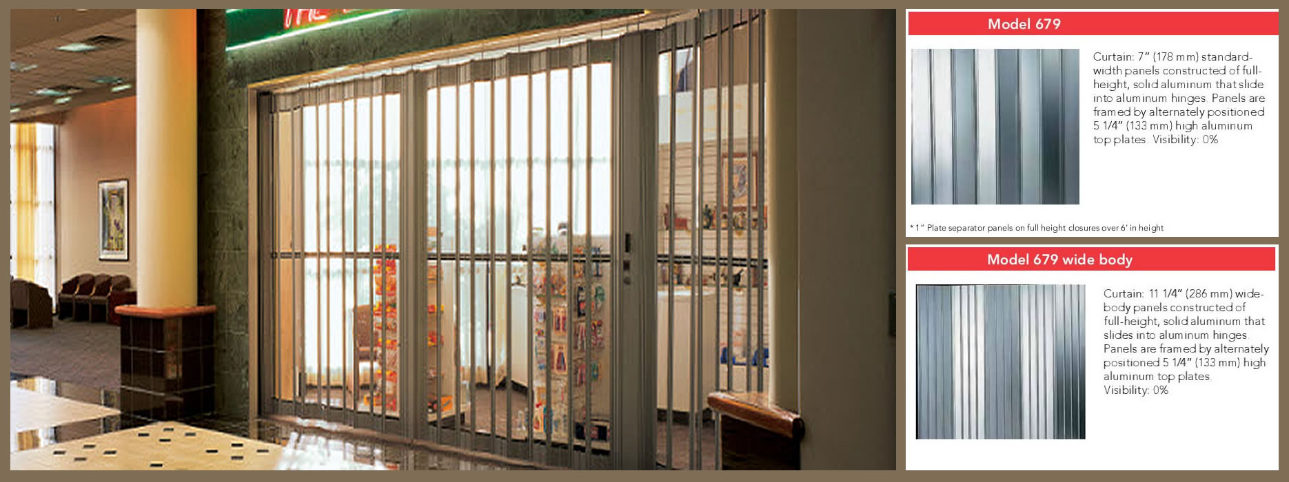 Security grilles series by overhead door corporation